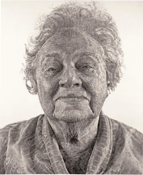 Fanny:Fingerpainting, 1985 by Chuck Close